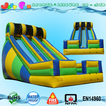 23' commercial wet dry inflatable double lane waterslide with safety netting