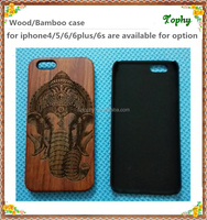 High Class One Piece Mobile Phone Case in wooden style