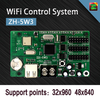 LED Display Asynchronous ZH-5W3 WIFI Controller Card Can Send Data by Mobile Phone