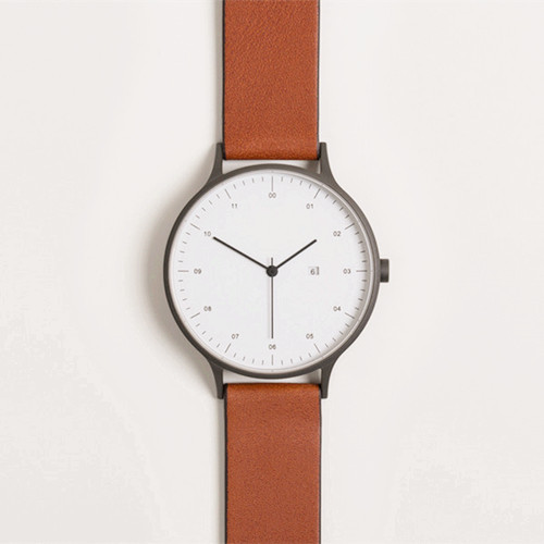 custom minimalist face design your own watch with leather strap