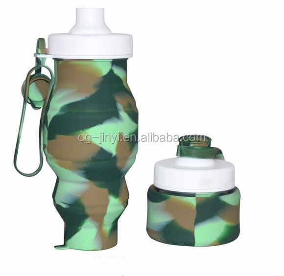 Hot sale foldable sports water bottle silicone water bottle