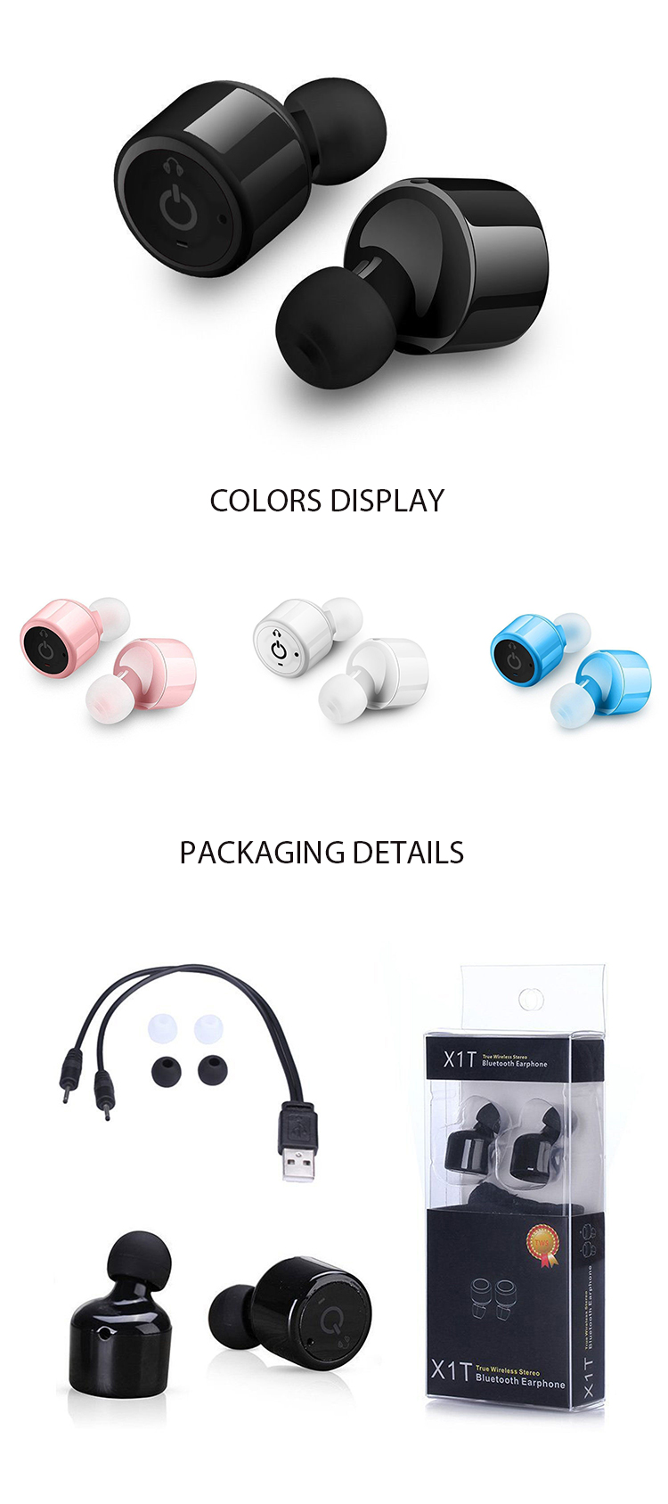 Wholesale Waterproof Magnetic Sport Tws Sports Mini True Earbud Earphones Wireless Earbuds Bluetooths Earphone