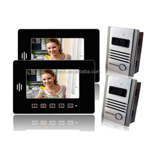 7inch color video door phone with image memory 2 monitor and 2 unit