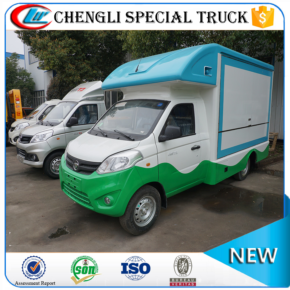 Customization FOTON 4x2 68hp mobile food catering vending cart truck