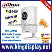 Mini H.264 HD 1.3 Megapixel CMOS Max 32GB SD IP Cube Camera, 3.6mm fixed lens