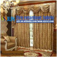 Luxury Europe Style Crystal Bead Drapery&Curtain With Permanent Flame Retardant Performance