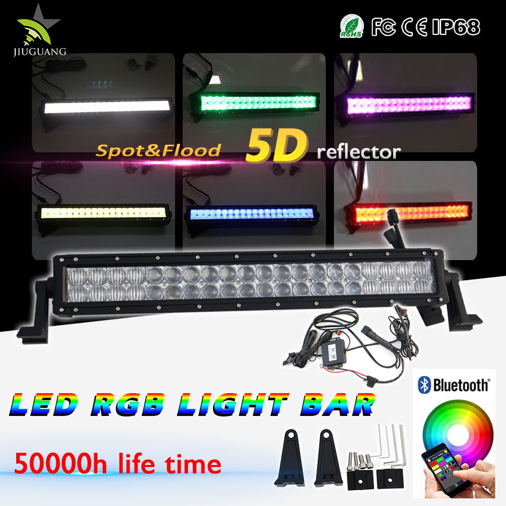 5d reflector rock light 120w 22 inch led light bar offroad