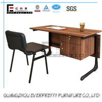 Different Latest Simple Office Table Designs with wooden Skirting Board for Office Director