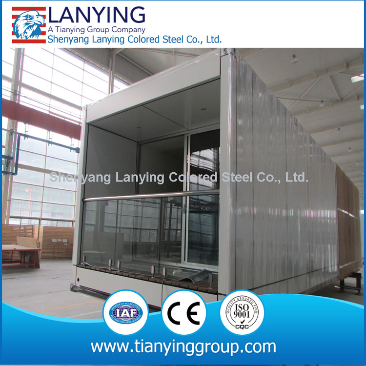 light steel waterproof log cabins prefab house,light steel prefabricated luxury container