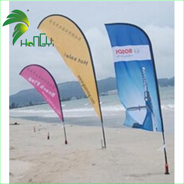 Popular Outdoor Advertising Printing Beach Flags for Sale