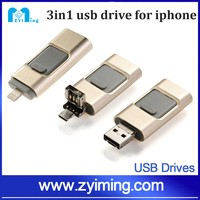 Zyiming Wholesale Ultra thin mobile phone usb flash drive for iphone otg usb mini otg usb for iphone