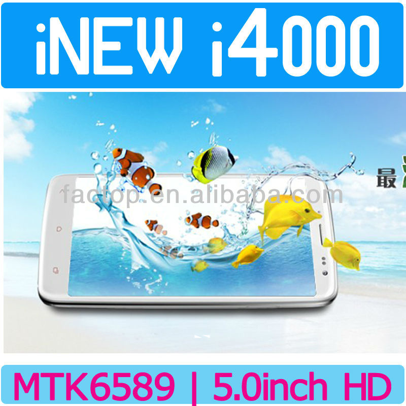 New Arrival INEW i4000 MTK6589 1.2GHZ Full HD Smartphone RAM 1GB ROM 16GB 1920*1080 Pixels Touch Screen Cellphone