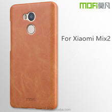 MOFi new cell phone back case for xiaomi mix 2,hot selling PU leather back case for xaiomi mix 2 OEM/ODM
