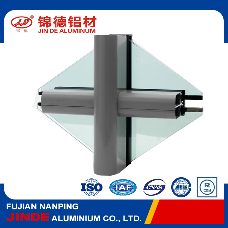 High precision aluminum profile for curtain wall with top sales