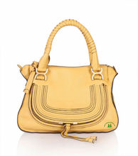 Hot sale best quality yellow leather bags fashion women tote bag dropship paypal