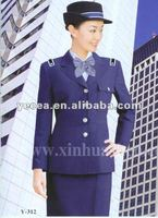 HOT selled smart style 35%65%TC ladies security guard uniform