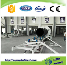 Water cooling single screw high speed pe corrugated pipe equipment