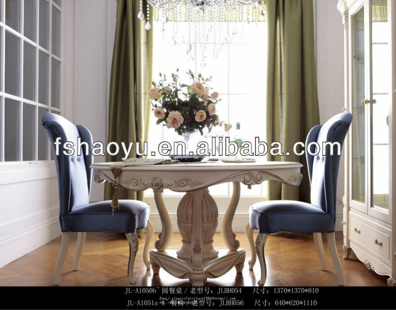 french antique white dining room sets,round wooden french dining table