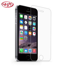 Good Quality 9H 0.26MM 2.5D protective film guard membrane tempered glass screen protector for iPhone SE 5C 5S 5G