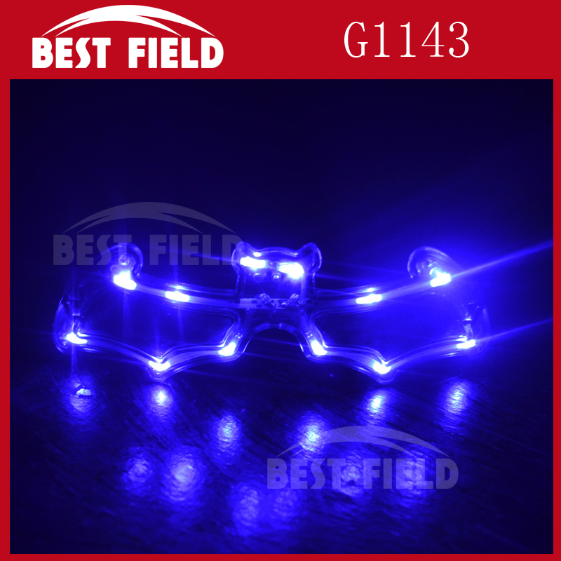 2pcs color bat flashing Halloween glasses
