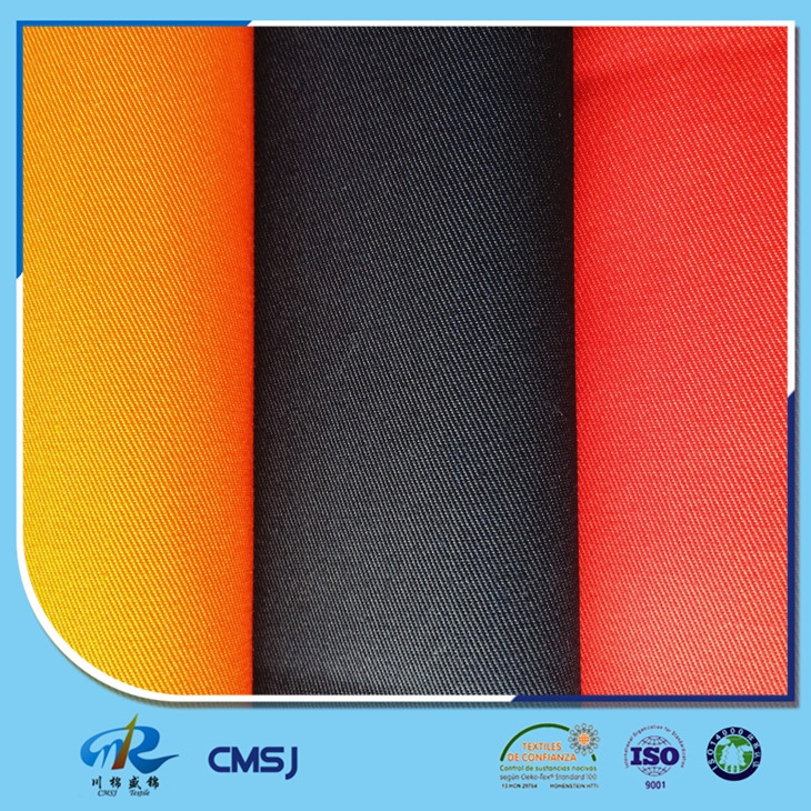 Good quality poly cotton blended twill woven denim fabrics for suits