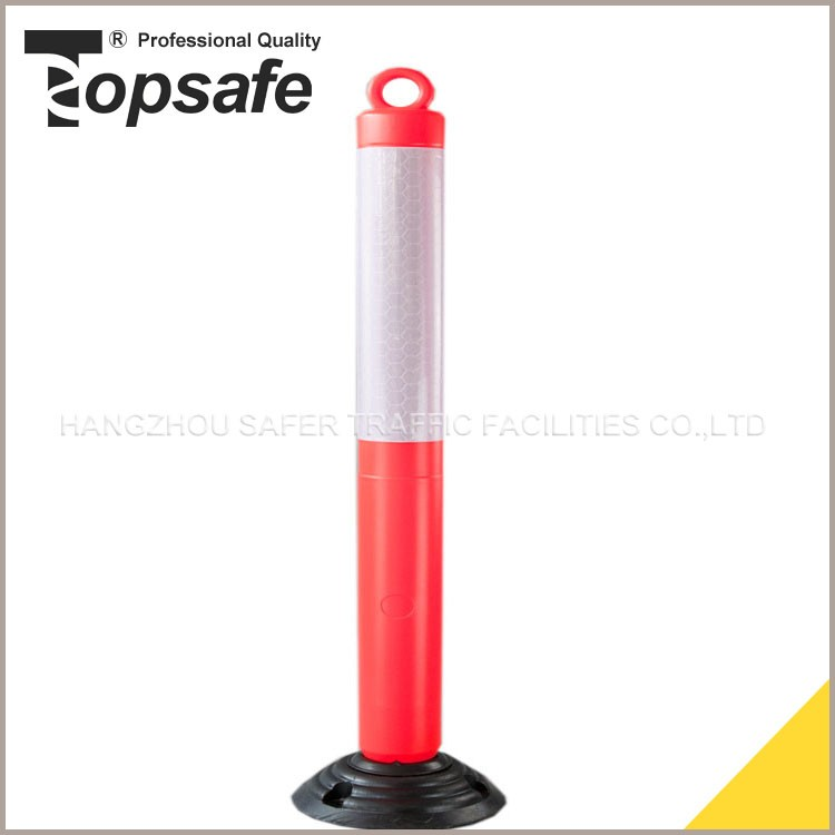 Standard 1pce 45cm reflective automatic led steel rising bollard