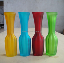 Cheap Light & frosting colorized glass vases
