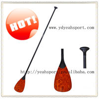 2013 Newly Hot Wooden Fashion Light But Strong Adjustable Wood Carbon Fiber Stand Up Paddle For Sup Paddle Board