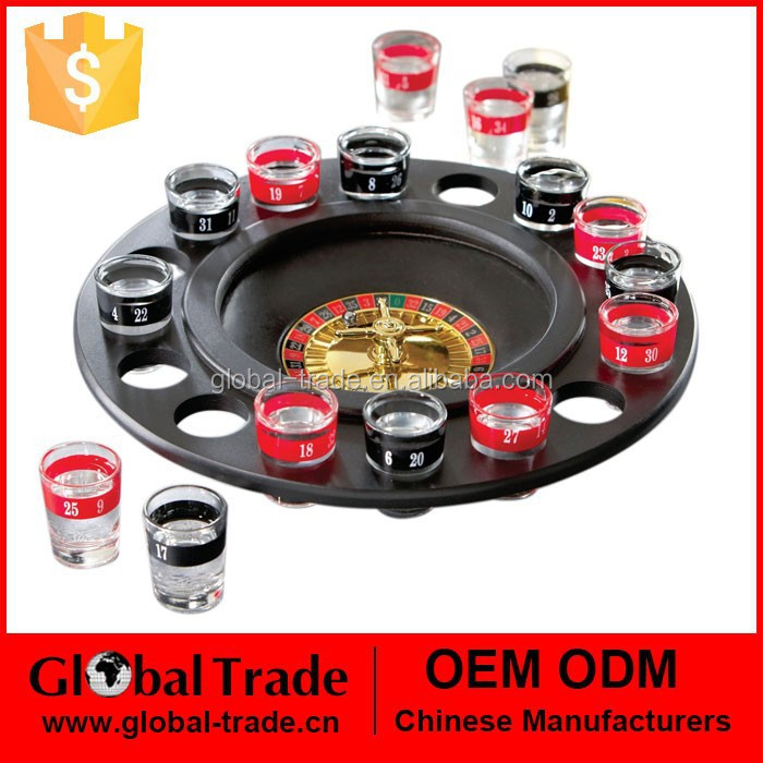 Roulette drink game Roulette Drinking Game Wheel Shot Glasses Novelty Gift Adult Party Game Casino H0074