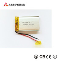 803048 3.7v 1100mAh lithium polymer battery for electric tools