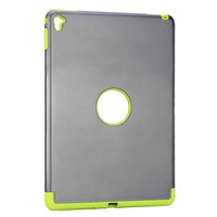 Wholesale hot selling armor gray and green color tablet cover case for ipad pro 9.7