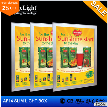 cheap price aluminum frame and up cover led light box for <strong>advertising</strong> and decoration