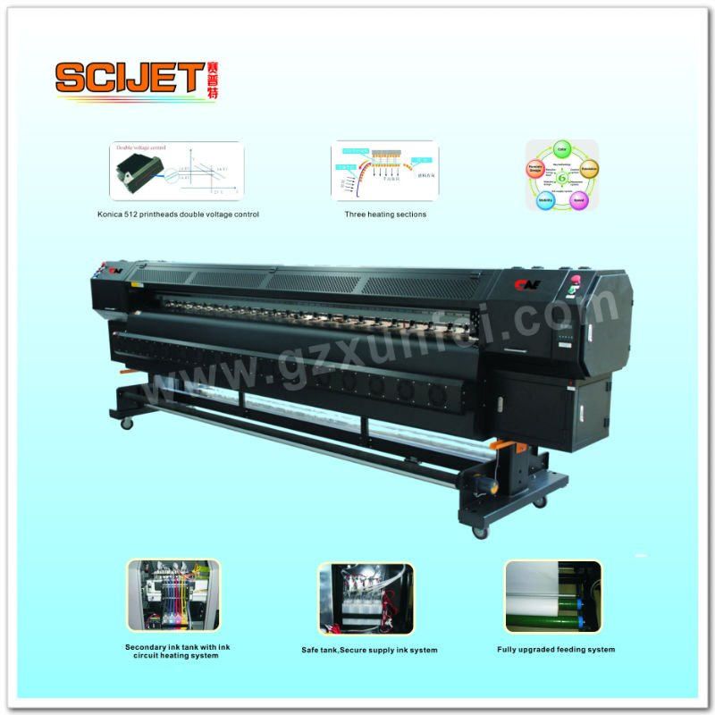 3,200mm KONICA head Outdoor Indoor Printer 3208K ( with 4pcs Konica 512/14pl printhead)