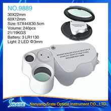 LED Illuminated Dual Lens Geographic and Jewelers Loupe NO.9889