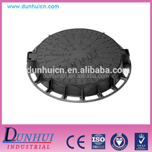 Heavy duty cast iron manhole cover with frame