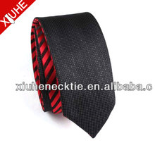 Polyester Reversible New Patterned Red And Black Tie