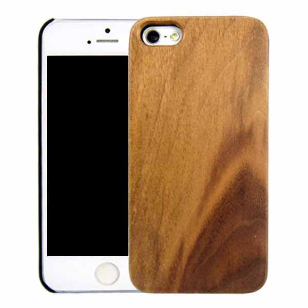 Carbonized bamboo phone case simple style wooden shell beauty wood cover for iPhone 5