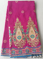 Fushia embroidered indian african george plain george