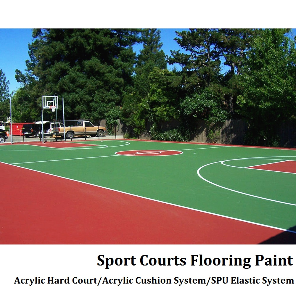 Safety outdoor Acrylic liquid basketball court flooring paint