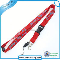 Gold supplier custom various printed colorful lanyard with bulldog clip