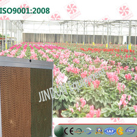China Customized gutter type Evaporative cooling pad for flowers planting greenhouse