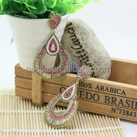 Gold traditional earring NSER-12671