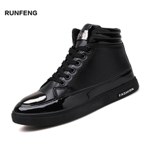 2017 Platform shoes new designed wholesale fashion cool high ankle men casual shoes