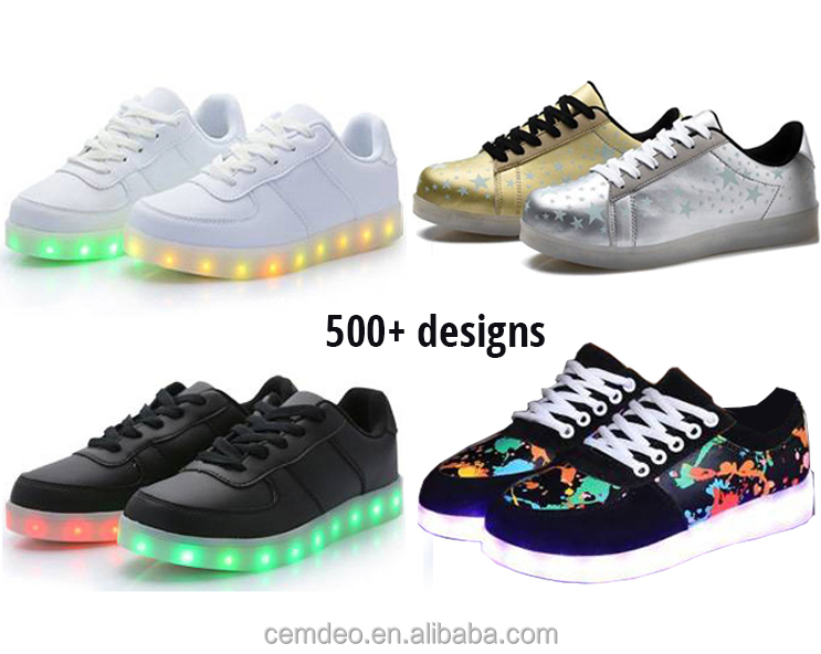 FAST SHIPPING and Low MOQ original high quality men women kids LED shoes