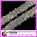 Sequin Rhinestone Applique Wedding Trim Crystal Bridal Applique Beaded Motif