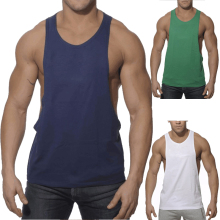 ATKC001 Gym Singlets Mens Tank Tops Cotton Stringer Bodybuilding and Fitness Men's GYM Tank top Sports Clothes