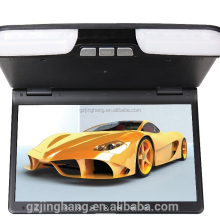 new arrival 15 inch car roof mounted flip down dvd player with usb port sd card slot