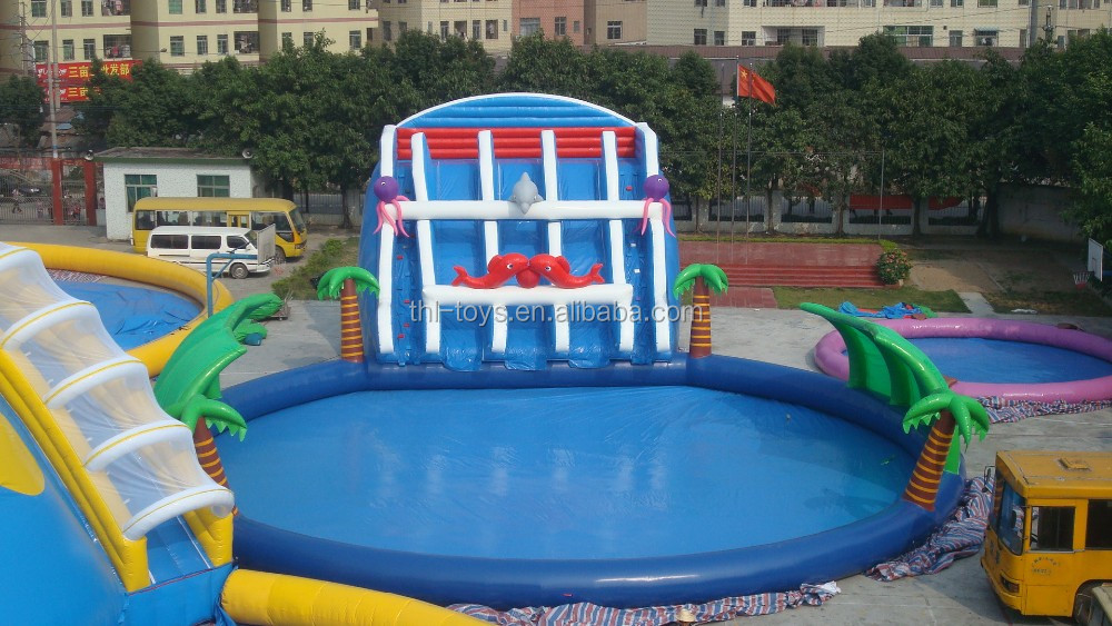 giant inflatable swimming pool for kids, inflatable used swimming pool slide for sale
