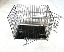 2016 hot sale large steel aluminum plastic welded wire dog cage