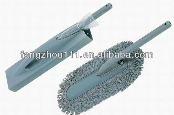 grey cotton duster brush for car